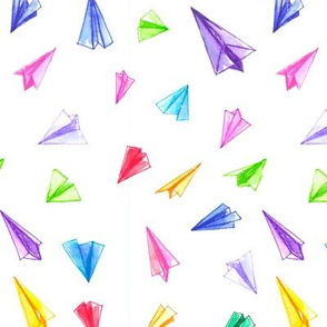 Paper Airplanes in Color