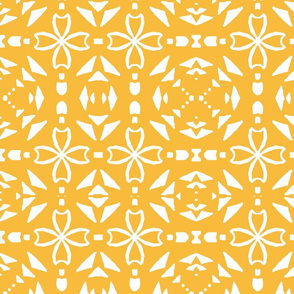 Triangle geometric, gold, large