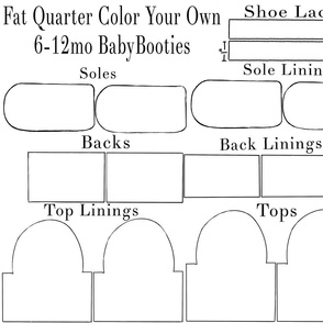 6-12mo Color Your Own Baby Bootie