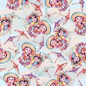 April Showers with Dolls & Parasols