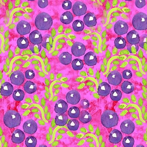 19-07a Batik Pink Purple Grape Fruit