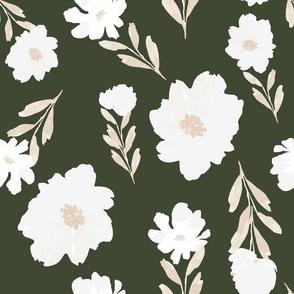 Olive-floral JUMBO