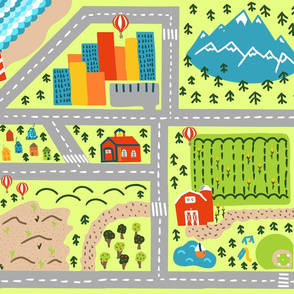 Fat Quarter Welcome to the World Playmat