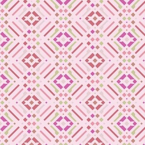 Modern abstract boho multi pink