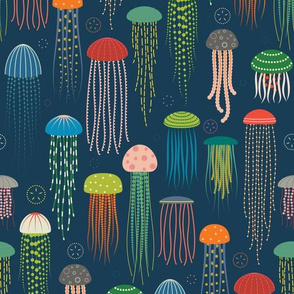 Just Jellies - Medium lighter Blue Background