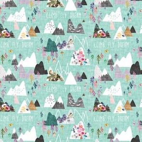 Mountain Dreams (aqua) extra small