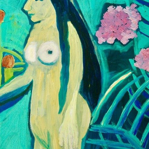 Detail of Eve in the Garden (after Rousseau) by Jocelyn Harwood