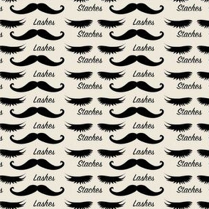 Staches or Lashes Baby Reveal