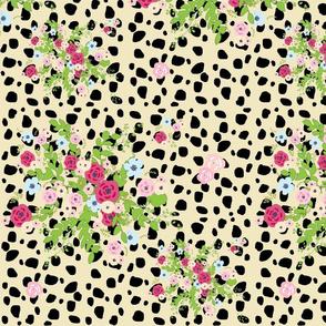 shabby bouquet cheetah spots- XL14