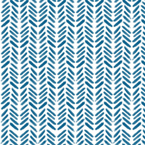 Herringbone Wave - Blue