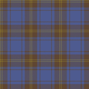 "Hepburn blue tartan, 6"" custom brown variant"
