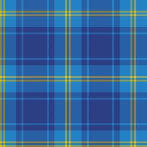 "Hepburn blue tartan, 8"""