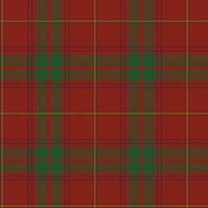 "Rothesay red tartan variant, 8"" with purple and gold stripes"