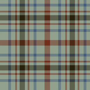 "MacDonagh tartan - 10"" campbell chief colors"
