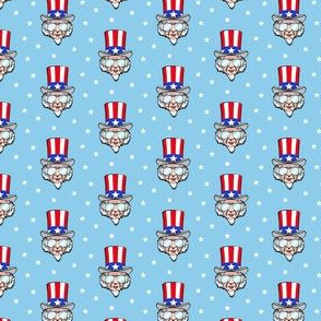 (small scale) Uncle Sam w/ sunnies on blue C19BS