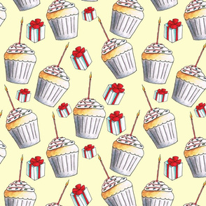 Happy Birthday Cupcakes and Presents