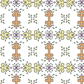 Cartoon abstract floral pattern
