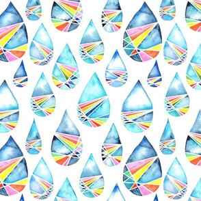Watercolour Prism Raindrops