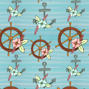 The Flowers at Sea Anchors and Wheels in a Row