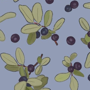 Large Scale Huckleberries on Lavender
