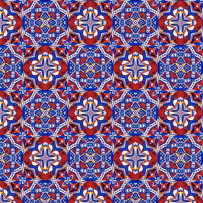 Moroccan Red and Blue