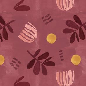 Graphic Purple floral