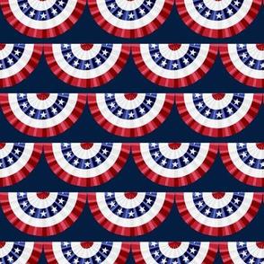 Flag Banner Scallops - Navy - LAD19