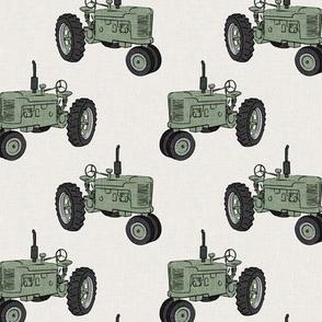 Vintage Tractors - Farming - Sage - LAD19