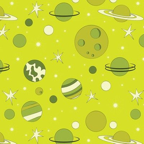 Alien Life_Planets_Green