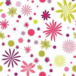 Daisy Mish-Mash, Pink and Green