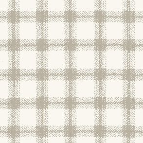 Herringbone Plaid - Shadow, H White   (B &L)