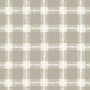Herringbone Plaid - H White, Shadow  (B &L)