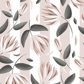 Floral stripes - muted