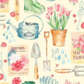 Vintage Floral Gardener