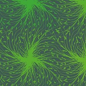 geometric plants pattern
