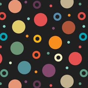 vintage color dots