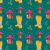 Rain drops and fairies