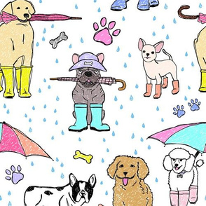 Dotty Downpour Doggie Doodles