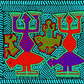 Kuna Mola Turtle Spirits