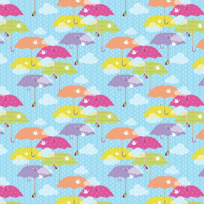 Peaceful April Showers and Umbrellas