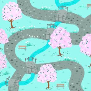 Cherry Blossom Season Playmat