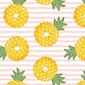Pineapple donuts - doughnuts - summer - pink stripes - LAD19