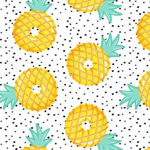 Pineapple donuts - doughnuts - summer - polka dots - LAD19