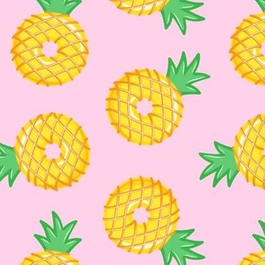 Pineapple donuts - doughnuts - summer - pink  - LAD19