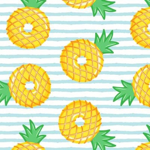 Pineapple donuts - doughnuts - summer - blue stripes - LAD19