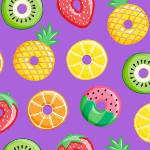 fruit donuts - summer doughnuts - purple - LAD19