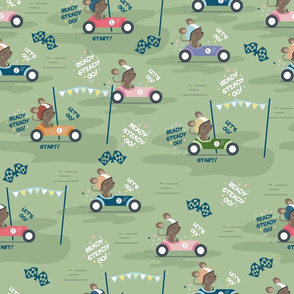 Ready to race mouse pattern