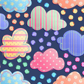 Rainbow Clouds and Sequin Rain