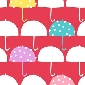 April Showers happy dotted umbrellas