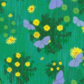 April Showers Bring the Dandelions and the Holly Blue Butterflies
